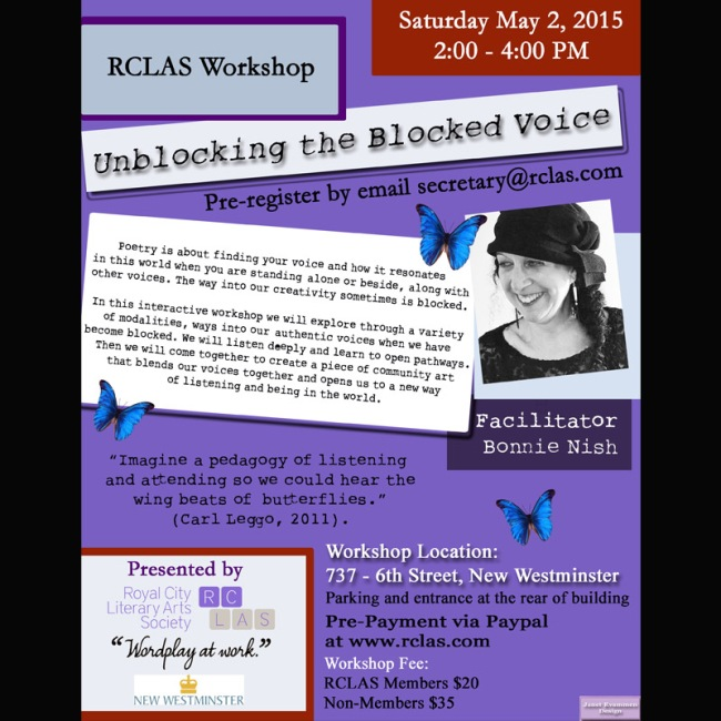 rclas-writing-workshop-unblocking-blocked-voice-facilitator-bonnie-nish
