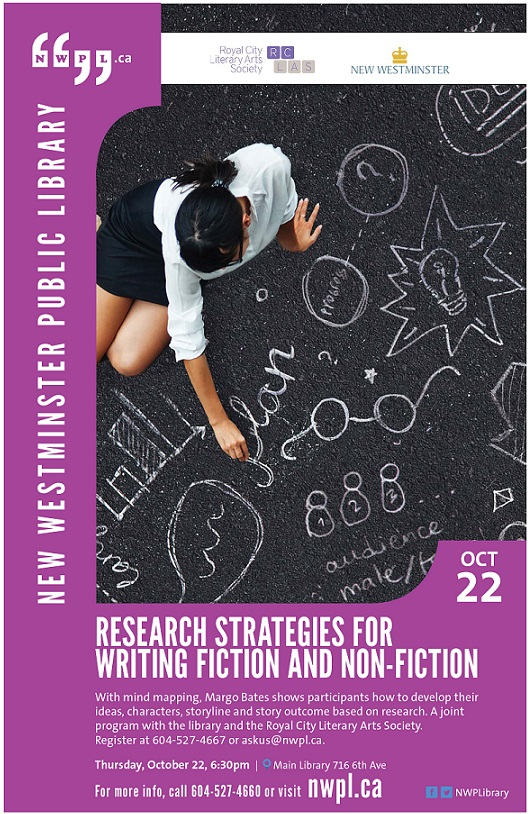 2015 Oct 22 RCLAS REsearch Strategies for writing fiction and non fiction flyer (1)