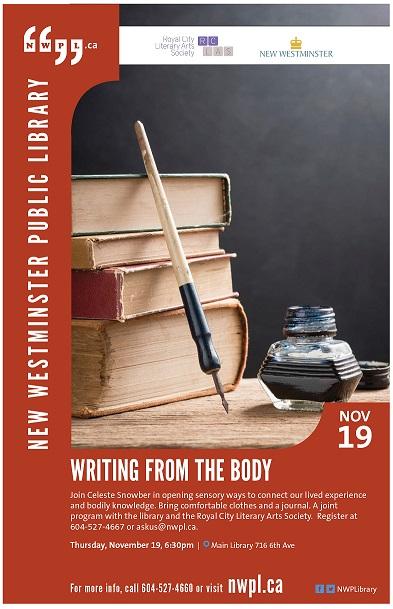 2015 Nov 19 RCLAS Writing from the body