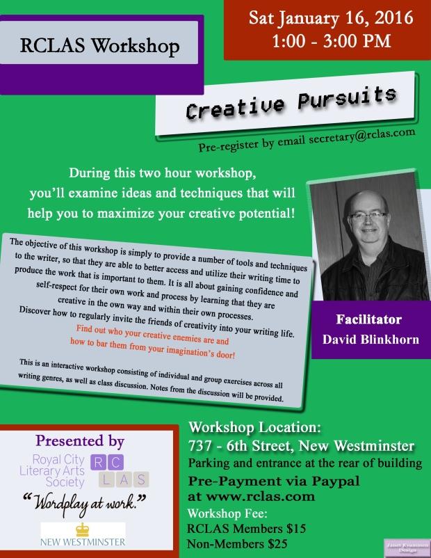 David Blinkhorn Creative Pursuits Jan16 2016
