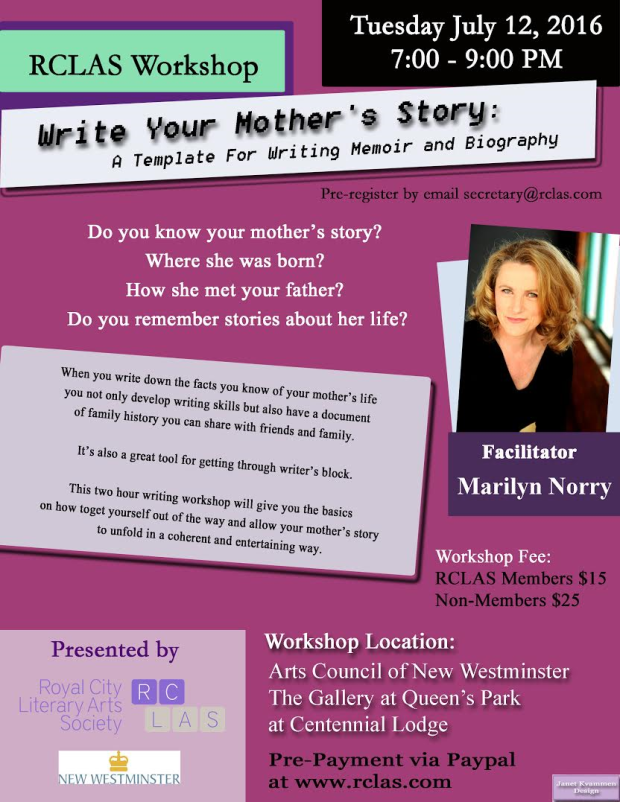 writing your mothers story