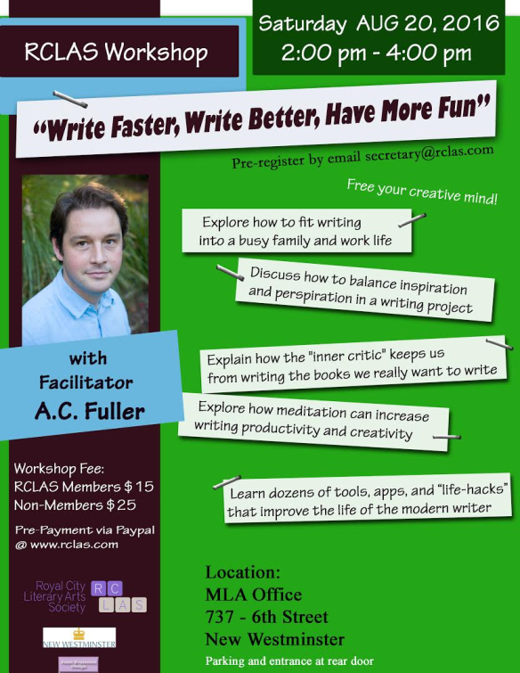 CONCLUDED WORKSHOP: WRITE Faster  Write Better  Have More