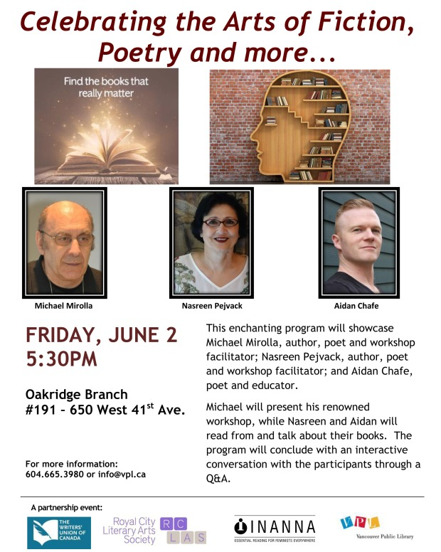 VPL - OAK - Celebrating the Arts of Fiction, Poetry and more - Poster