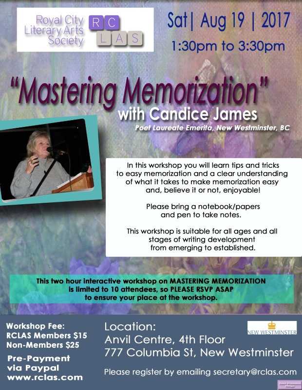 Candice James Workshop August 2017