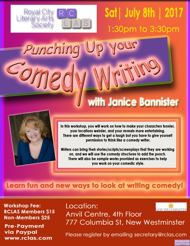 Janice Bannister Comedy workshop July 8 2017