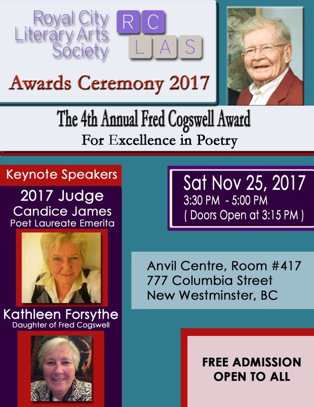 RCLAS Cogswell Award 2017 CEREMONY POSTER