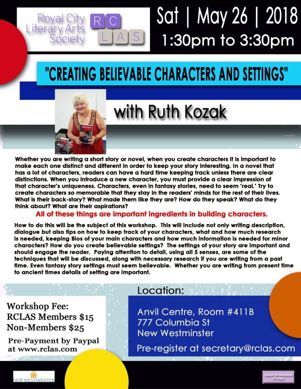 Ruth Kozak Workshop May 2018
