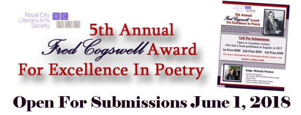 2018 Cogswell Open For Submissions Banner