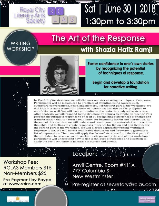 Shazia Ramji Workshop JUNE 30 2018