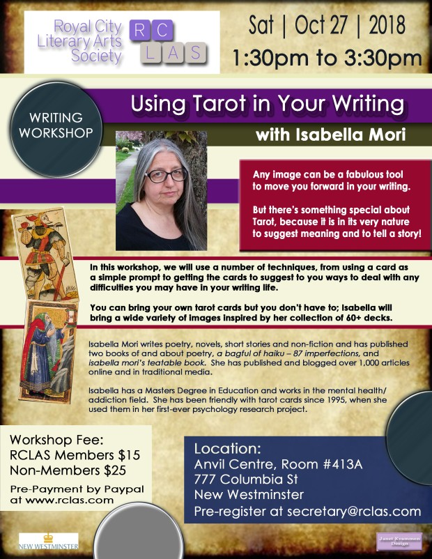 Isabella Mori Workshop OCT 27 2018