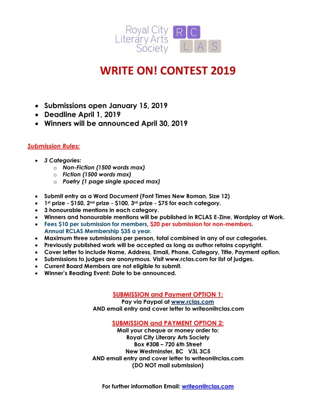 2019 write on contest info sheet