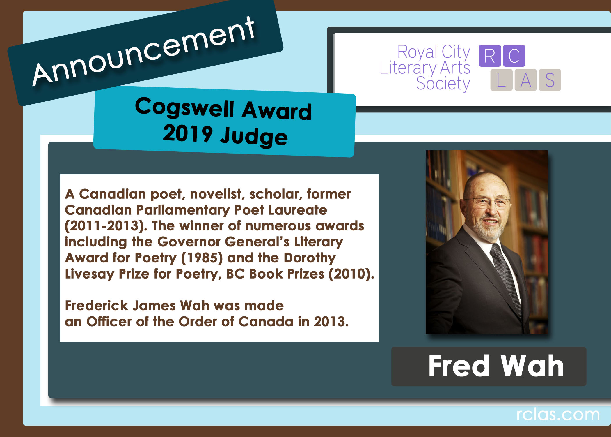 RCLAS Cogswell Judge Announcement 2019 Fred WAH