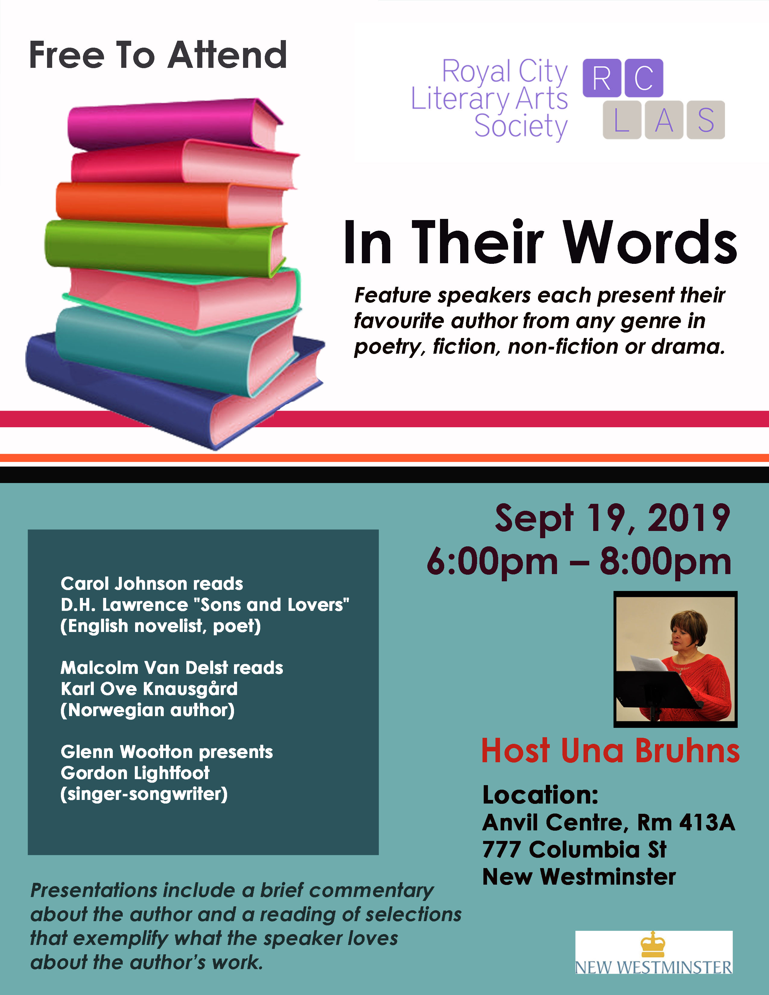 IN THEIR WORDS POSTER SEPT 19 2019