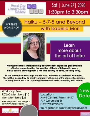 Isabella Mori Haiku WorkshopJune 27 2020