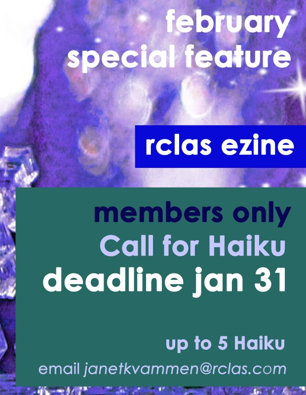 rclas call for submissions haiku