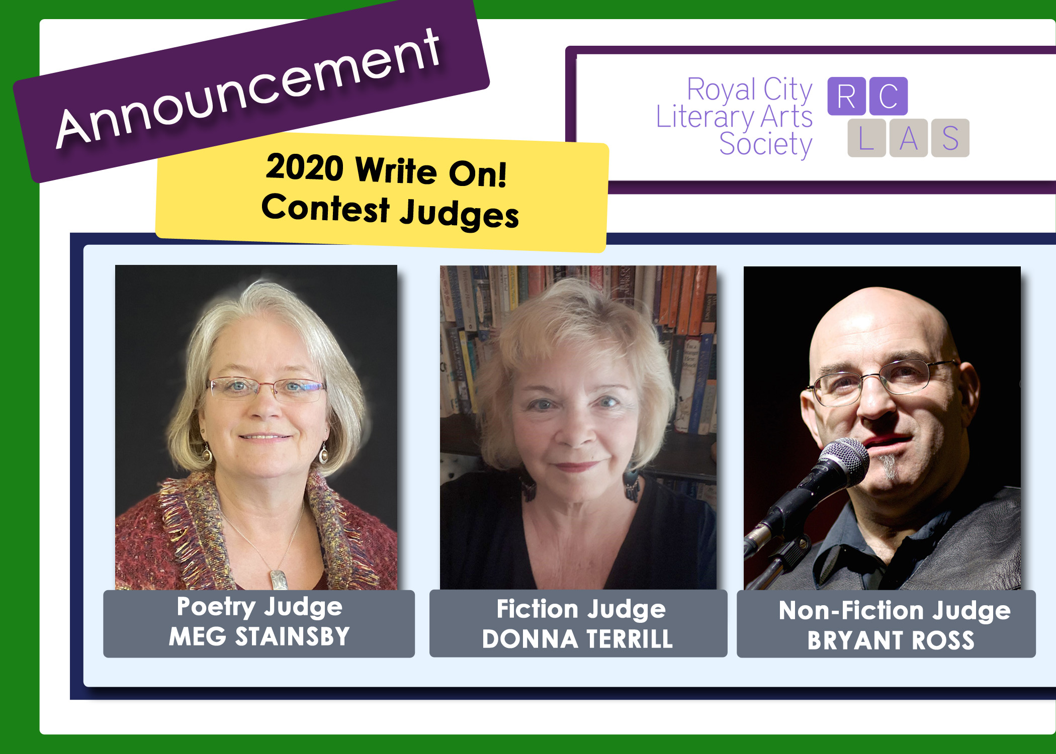 RCLAS Write On Contest 2020 Judge Announcement