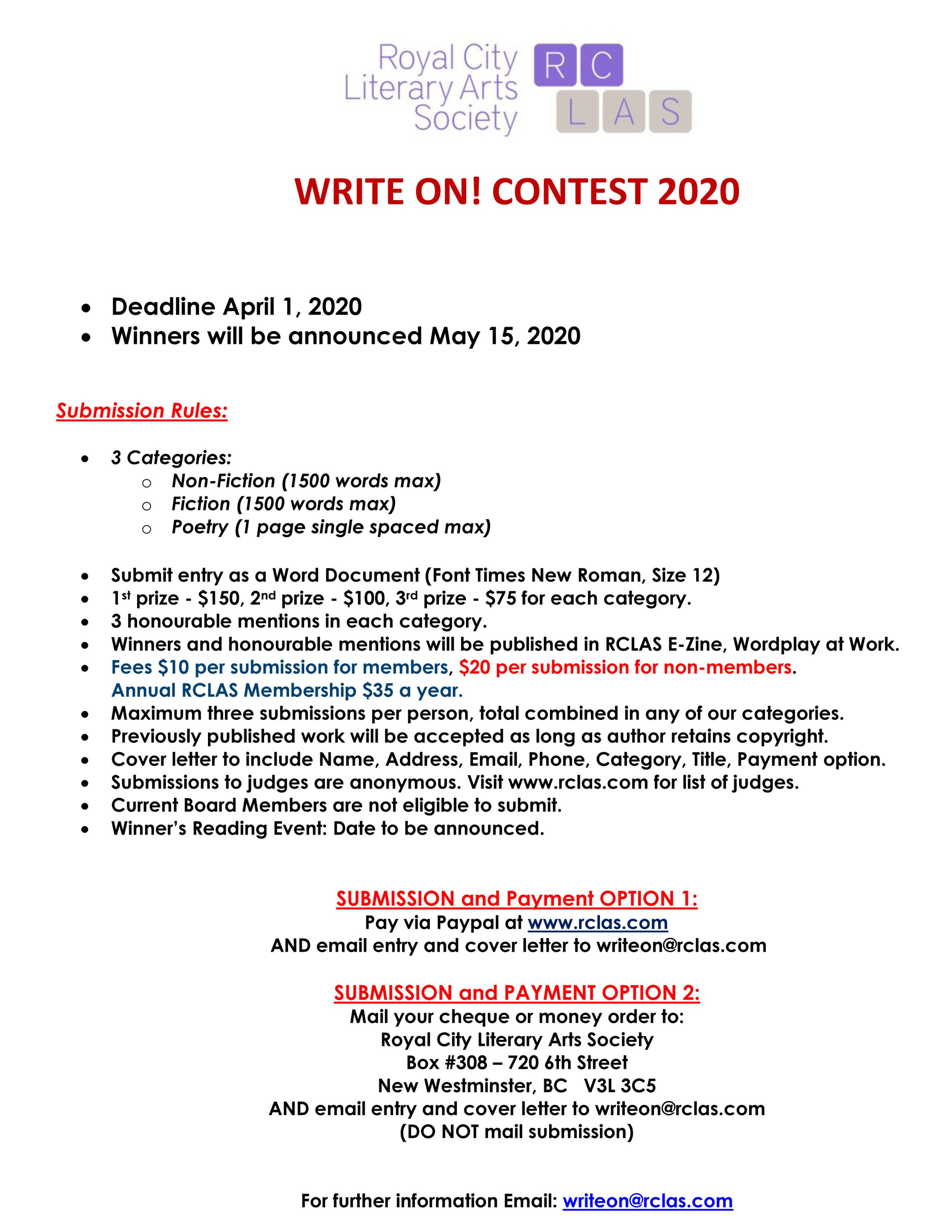 Write on 2020
