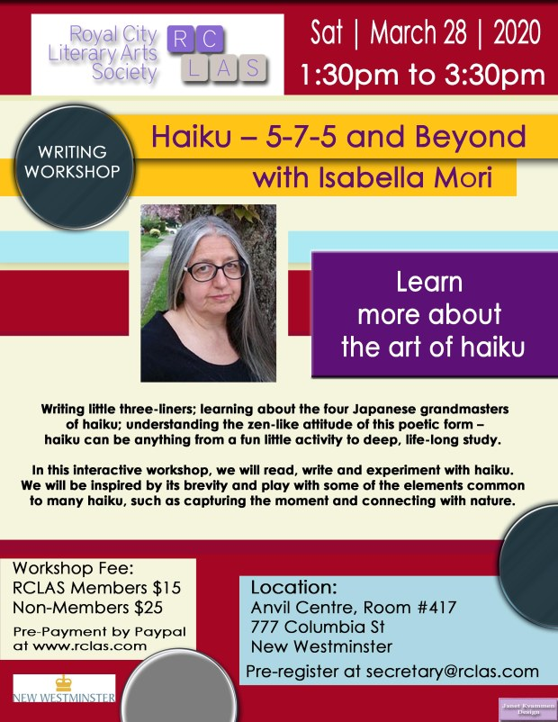 Isabella Mori Haiku Workshop March 28 2020