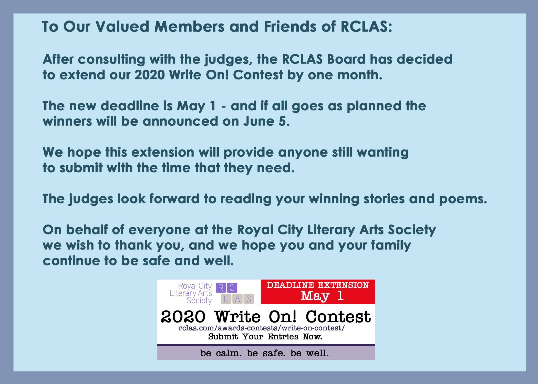 RCLAS WO Extension Note