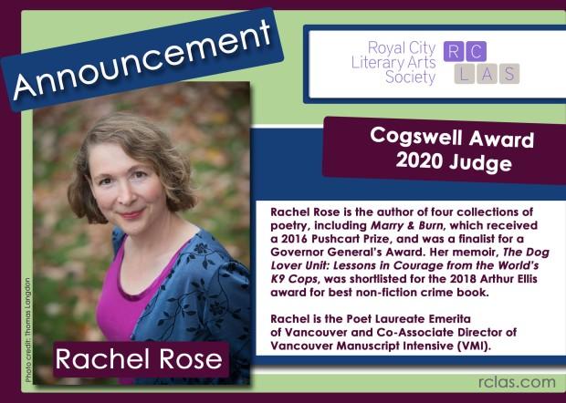 RCLAS Cogswell Judge Announcement 2020 Rachel Rose